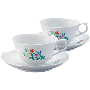 ≪マイセン≫ペア ティーカップ&ソーサー スイートピー