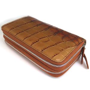 ≪Della≫財布 ダブル(クロコキャメル)
