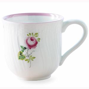 ≪ヘレンド≫ウィーンの薔薇・ピンク ミッドマグ