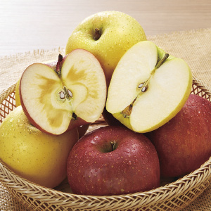 《ハロートーク》 信州産 赤黄りんご詰合せ(サンふじ&シナノゴールド) 約3kg