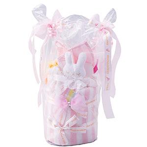 ≪赤ちゃんの城≫ ギフトセット「タオルリボンケーキ」(ピンク)