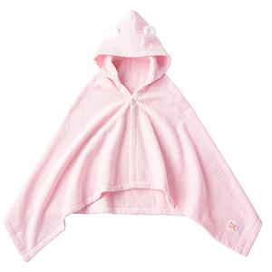 ≪ファミリア≫ポンチョ型バスタオル(ピンク)