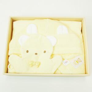 ≪ファミリア≫ポンチョ型バスタオルギフトセット(クリーム)