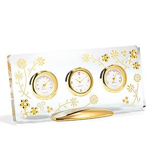 ≪ミキモト インターナショナル≫置時計&温・湿度計 ブランシュール