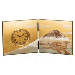 ≪夢東≫白富士 屏風時計