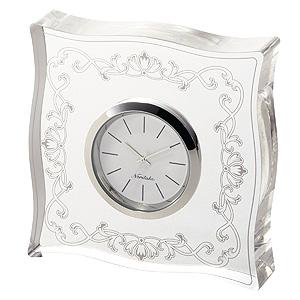 ≪メゾンコレクション≫ハンプシャープラチナ 置時計(角型) AC-CL/MC04