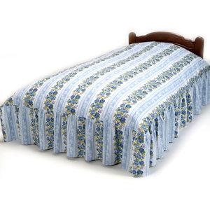 《ハロートーク》 花柄フリル付ベッドふとんカバー シングル