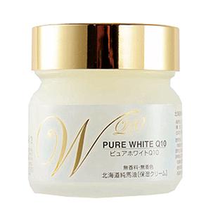 ≪北海道純馬油本舗≫ピュアホワイトQ10 無香料 /65g
