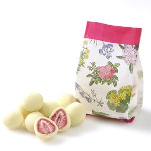 ≪六花亭≫ストロベリーチョコ(ホワイト・袋入) ☆(冷蔵)