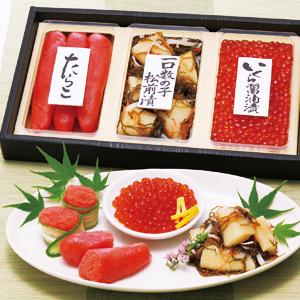 お中元 ≪佐藤水産≫魚卵珍味3点セット【冷凍】