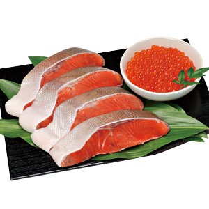 お中元 ≪まるなか≫オホーツク海鮮味覚 紅鮭親子セット【冷凍】