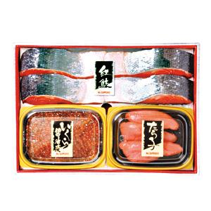 お中元 ≪味の浜藤≫紅鮭・たらこ・いくら醤油漬【冷凍】
