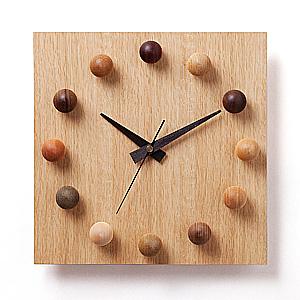 ≪ドリーミィーパーソン≫壁掛け時計 ビーズクロック 12-OMB