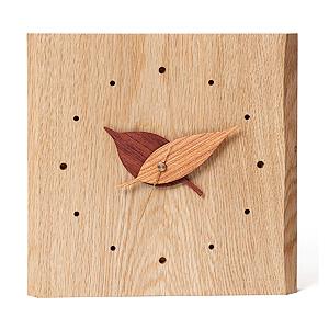 ≪ドリーミィーパーソン≫壁掛け時計 木の葉時計 ナラ