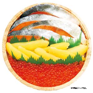 四季舎 紅鮭・味付け数の子・いくら ★(冷凍)