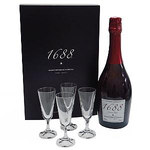 1688 グラン・ロゼ グラスセット(ノンアルコール・スパークリング)