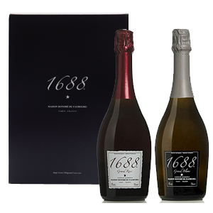 1688 グラン・ロゼ&1688 グラン・ブラン紅白2本セット(ノンアルコール・スパークリング)ドレスサークル ワイン