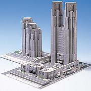 <東急百貨店>【ペーパー建築模型】5.東京都庁舎画像