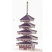<東急百貨店>【ペーパーモデル ミニ】6.法隆寺五重塔画像