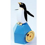 <東急百貨店>【からくりペーパークラフト】1.ペンギンの見果てぬ夢画像