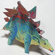 <東急百貨店>【すぐできる紙恐竜4】ステゴサウルス画像