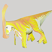 <東急百貨店>【すぐできる紙恐竜8】パラサウロロフス画像