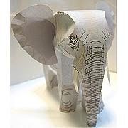 <東急百貨店>【すぐできる動物】3.アフリカゾウ画像