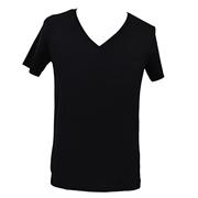 <東急百貨店>Vネックシャツ(ブラック)画像