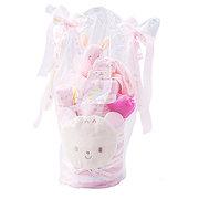 <東急百貨店>≪赤ちゃんの城≫ギフトセット「タオル2段ケーキ」(ピンク)画像