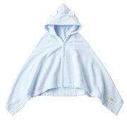 <東急百貨店>≪ファミリア≫ポンチョ型バスタオル(ブルー)