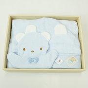<東急百貨店>≪ファミリア≫ポンチョ型バスタオルギフトセット(ブルー)