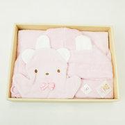 <東急百貨店>≪ファミリア≫ポンチョ型バスタオルギフトセット(ピンク)