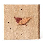 <東急百貨店>≪ドリーミィーパーソン≫壁掛け時計 木の葉時計 ナラ画像