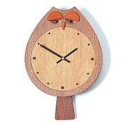 <東急百貨店>≪ドリーミィーパーソン≫壁掛け時計 フクロック ウォルナット画像