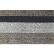<東急百貨店>≪チルウィッチ≫シャグ ボールドストライプ インドア・アウトドアマット(Silver/Black)